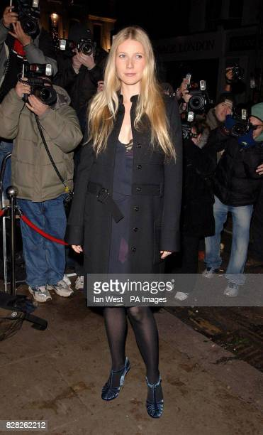 Gwyneth Paltrow arrives at the Grand Classics VIP screening of 'Annie Hall' at the Electric Cinema in Notting Hill west London Monday 12 December...