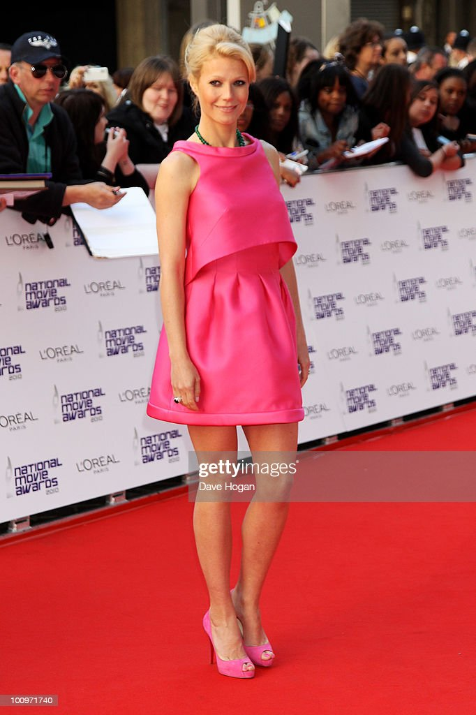 Gwyneth Paltrow arrives at The National Movie Awards 2010 held at The Royal Festival Hall on May 26 2010 in London England