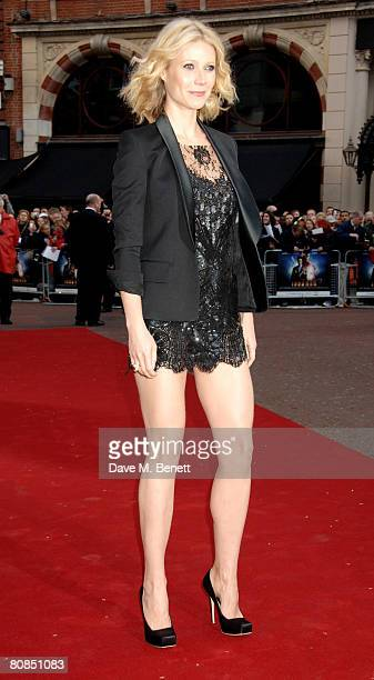 Gwyneth Paltrow arrives at the UK charity premiere of 'Iron Man' at the Odeon Leicester Square on April 24 2008 in London England