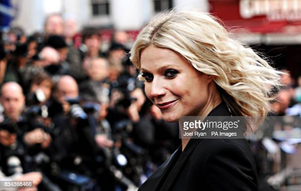 Gwyneth Paltrow arrives for the UK charity premiere of Iron Man at the Odeon West End Cinema Leicester Square London