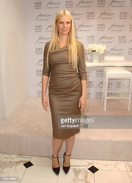 Gwyneth Paltrow at the Estee Lauder Launches 'Pleasures by Gwyneth Paltrow' Press Conference at Saks Fifth Avenue in Beverly Hills California