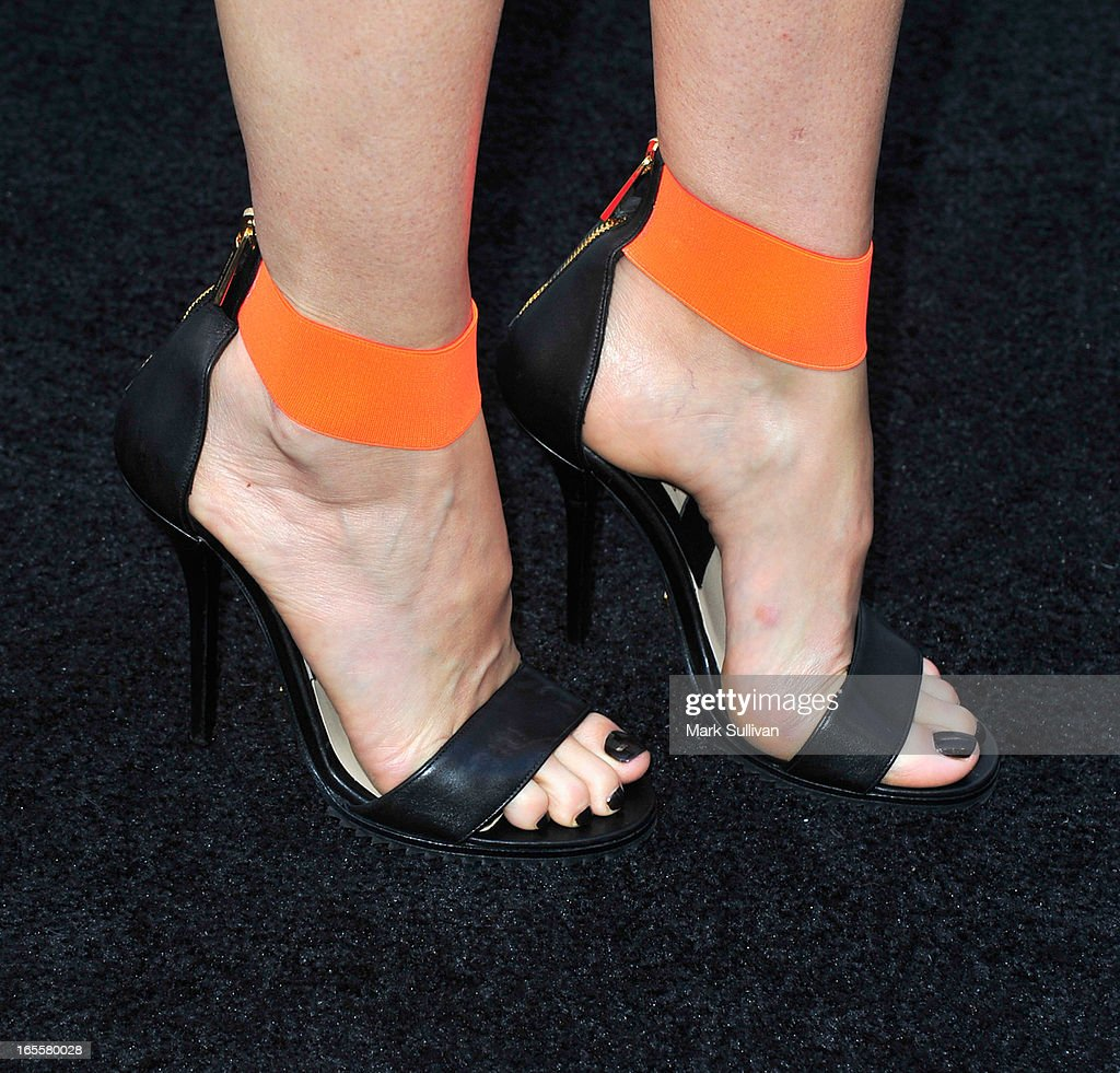 <a gi-track='captionPersonalityLinkClicked' href=/galleries/search?phrase=Gwyneth+Paltrow&family=editorial&specificpeople=171431 ng-click='$event.stopPropagation()'>Gwyneth Paltrow</a> (shoe detail) at the opening of Tracy Anderson flagship studio at Tracy Anderson Flagship Studio on April 4, 2013 in Brentwood, California.