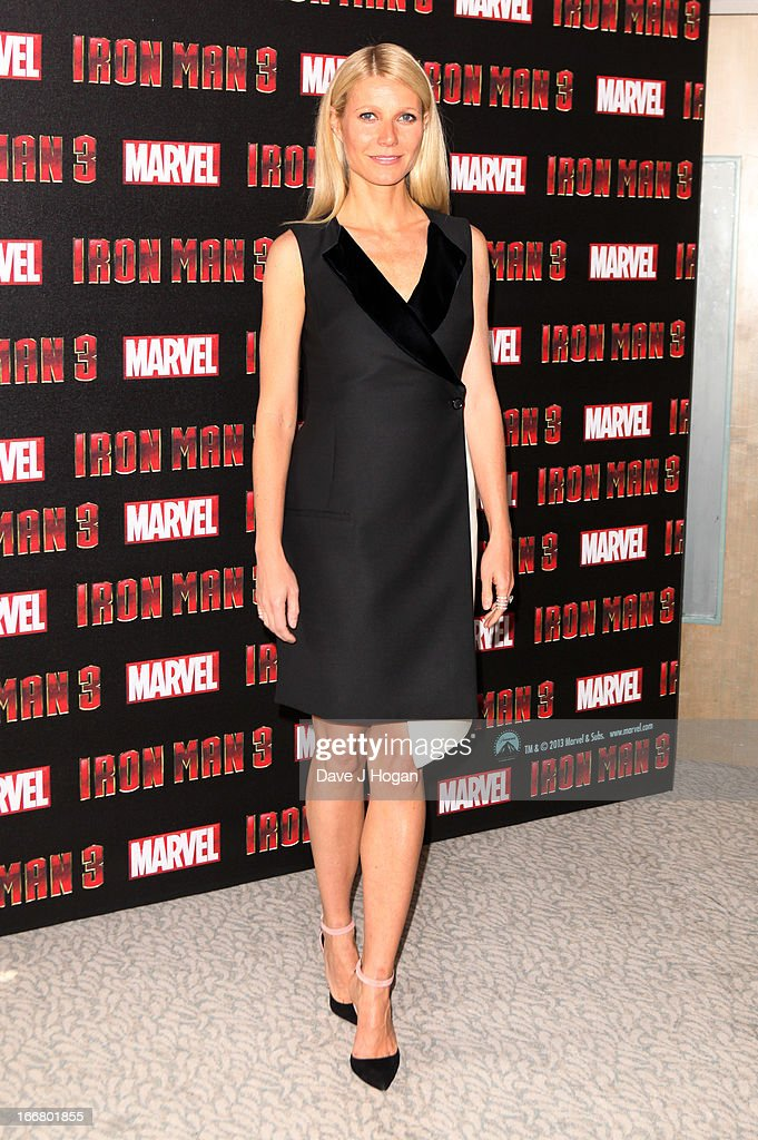 Gwyneth Paltrow attends a photocall for 'Iron Man 3' at The Dorchester Hotel on April 17, 2013 in London, England.
