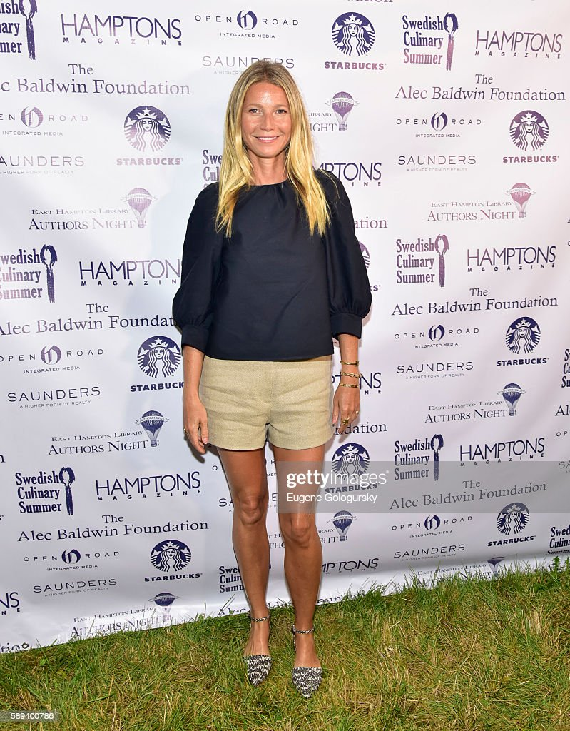 Gwyneth Paltrow attends the Authors Night For The East Hampton Library at The East Hampton Library on August 13 2016 in East Hampton New York