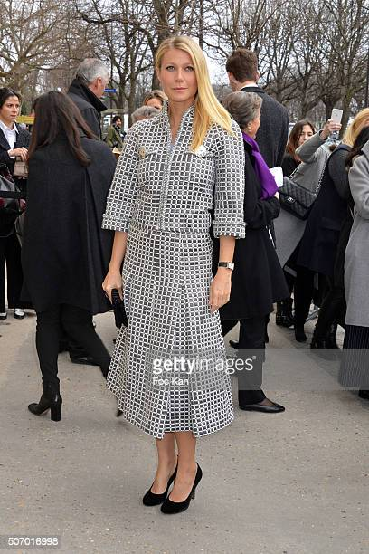 Gwyneth Paltrow attends the Chanel Haute Couture Spring Summer 2016 show as part of Paris Fashion Week on January 26 2016 in Paris France
