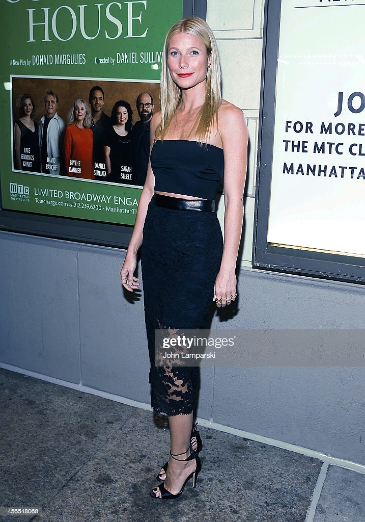 Gwyneth Paltrow attends 'The Country House' Opening Night Arrivals Curtain Call at Samuel J Friedman Theatre on October 2 2014 in New York City