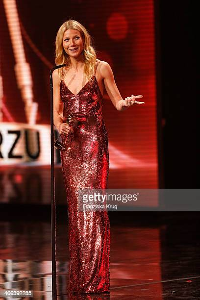 Gwyneth Paltrow attends the Goldene Kamera 2014 at Tempelhof Airport on February 01 2014 in Berlin Germany