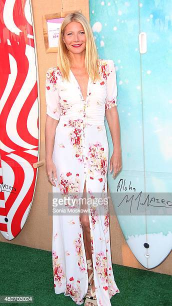 Gwyneth Paltrow attends the Hamptons paddle and party for PinkSunset cocktail party benefiting the Breast Cancer Research Foundation on August 1 2015...