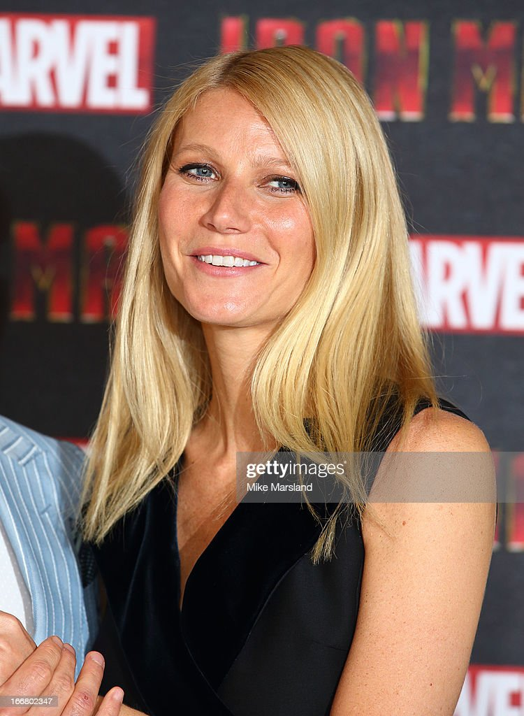 <a gi-track='captionPersonalityLinkClicked' href=/galleries/search?phrase=Gwyneth+Paltrow&family=editorial&specificpeople=171431 ng-click='$event.stopPropagation()'>Gwyneth Paltrow</a> attends the Iron Man 3 photocall at The Dorchester on April 17, 2013 in London, England.