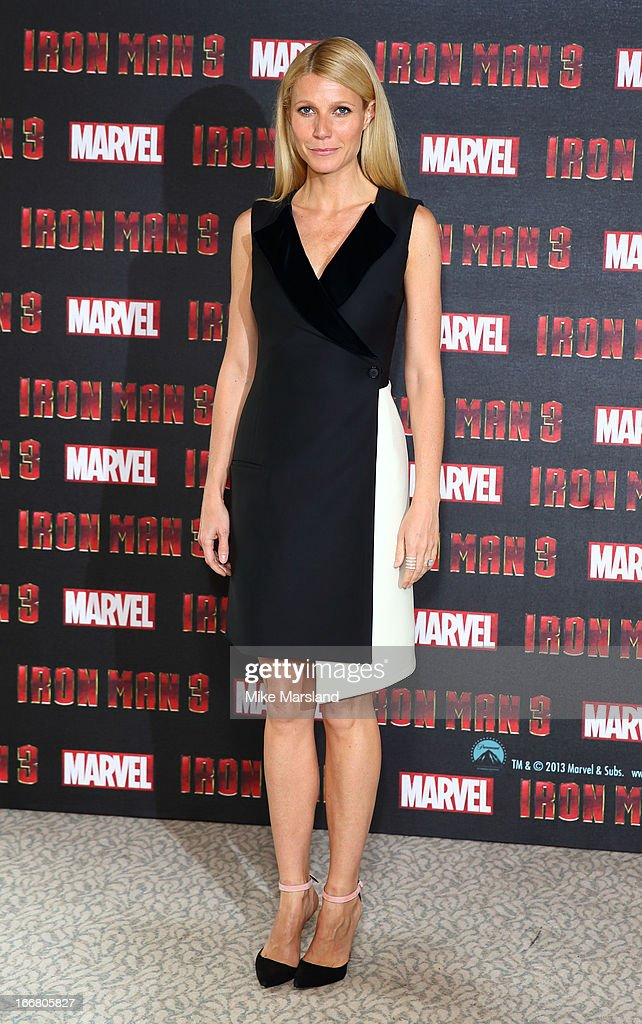 Gwyneth Paltrow attends the Iron Man 3 photocall at The Dorchester on April 17, 2013 in London, England.
