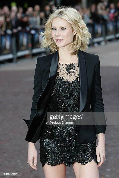 Gwyneth Paltrow attends the Iron Man film premiere held at the Odeon Leicester Square on April 24 2008 in London England