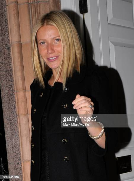 Gwyneth Paltrow attends the launch of Azzaro Spring 09 on September 15 2008 in London England