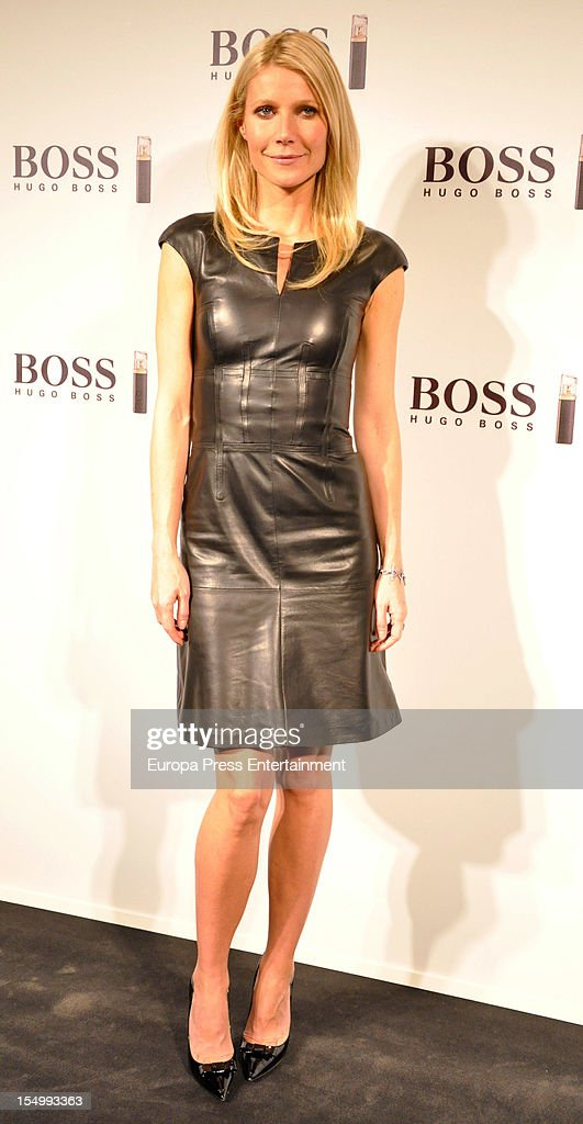 <a gi-track='captionPersonalityLinkClicked' href=/galleries/search?phrase=Gwyneth+Paltrow&family=editorial&specificpeople=171431 ng-click='$event.stopPropagation()'>Gwyneth Paltrow</a> attends the launch of 'Boss Nuit Pour Femme' fragrance on October 29, 2012 in Madrid, Spain.