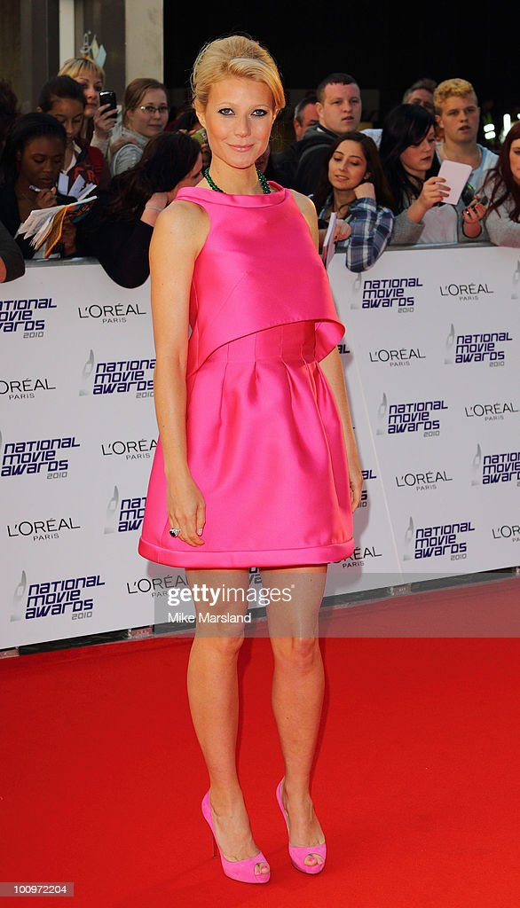 Gwyneth Paltrow attends the National Movie Awards 2010 at the Royal Festival Hall on May 26 2010 in London England