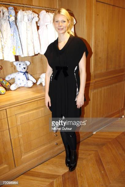 Gwyneth Paltrow attends the Paris Fashion Week party at the Porthault shop on Avenue Montaigne on October 5 2006 in Paris France