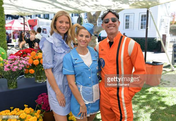 Gwyneth Paltrow GOOD founder Jessica Seinfeld and host Jerry Seinfeld attend the GOOD Foundation Halloween Bash presented by Beautycounter Delta Air...