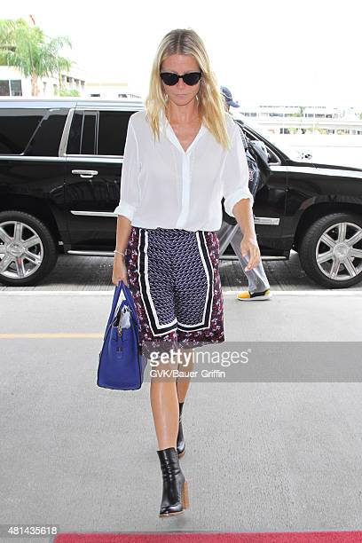 Gwyneth Paltrow is seen at LAX on July 20 2015 in Los Angeles California