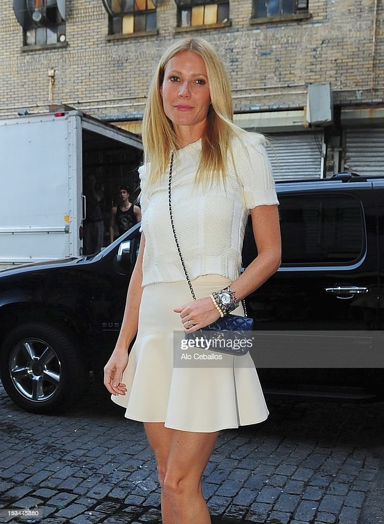 Gwyneth Paltrow is seen in the Meat Packing District, Manhattan on October 5, 2012 in New York City.