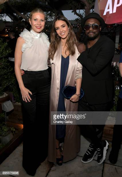 Gwyneth Paltrow Jessica Alba and william attend Apple Music's Planet of the Apps Party at Soho House on June 12 2017 in West Hollywood California