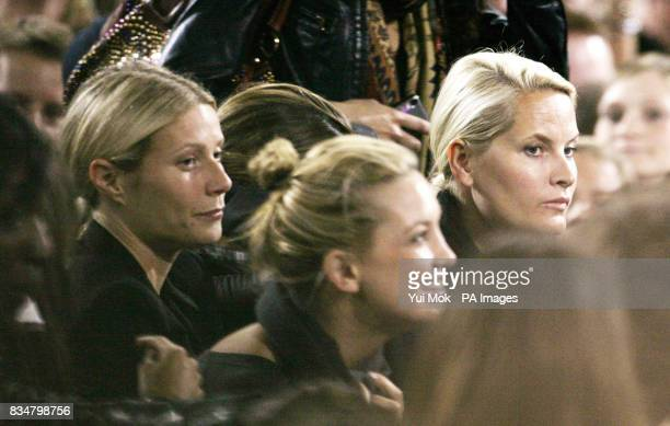 Gwyneth Paltrow Kate Hudson and Princess MetteMarit of Norway watch Madonna perform her 'Sticky and Sweet' tour at Wembley Stadium in central London