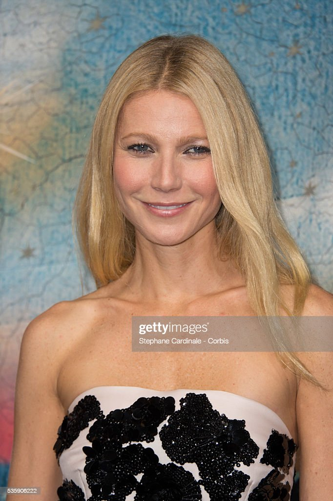 Gwyneth Paltrow launches the Printemps Christmas Decorations Inauguration at Printemps Haussmann, in Paris.