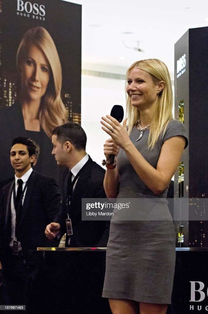Gwyneth Paltrow makes an in store appearance for Boss Nuit at Paris Gallery, Dubai Mall on December 5, 2012 in Dubai, United Arab Emirates.