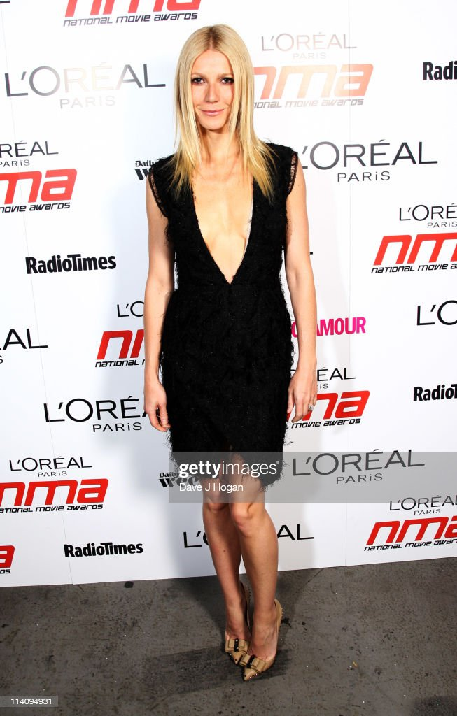 Gwyneth Paltrow poses backstage at the National Movie Awards 2011 at Wembley arena on May 11 2011 in London England