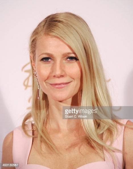 Gwyneth Paltrow poses in the winners room at the British Fashion Awards 2013 at London Coliseum on December 2 2013 in London England