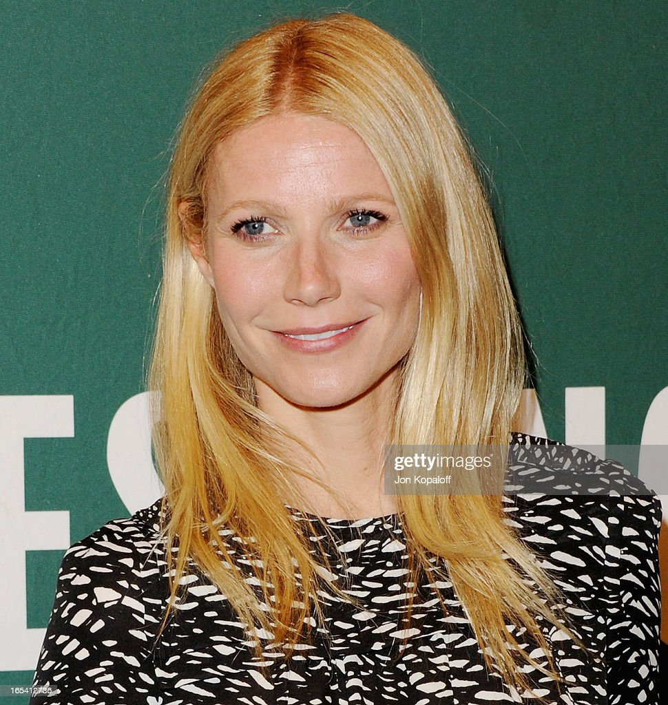 <a gi-track='captionPersonalityLinkClicked' href=/galleries/search?phrase=Gwyneth+Paltrow&family=editorial&specificpeople=171431 ng-click='$event.stopPropagation()'>Gwyneth Paltrow</a> poses with her book at <a gi-track='captionPersonalityLinkClicked' href=/galleries/search?phrase=Gwyneth+Paltrow&family=editorial&specificpeople=171431 ng-click='$event.stopPropagation()'>Gwyneth Paltrow</a> Signs Copies Of Her New Book 'It's All Good: Delicious, Easy Recipes That Will Make You Look Good and Feel Great' at Barnes & Noble bookstore at The Grove on April 3, 2013 in Los Angeles, California.