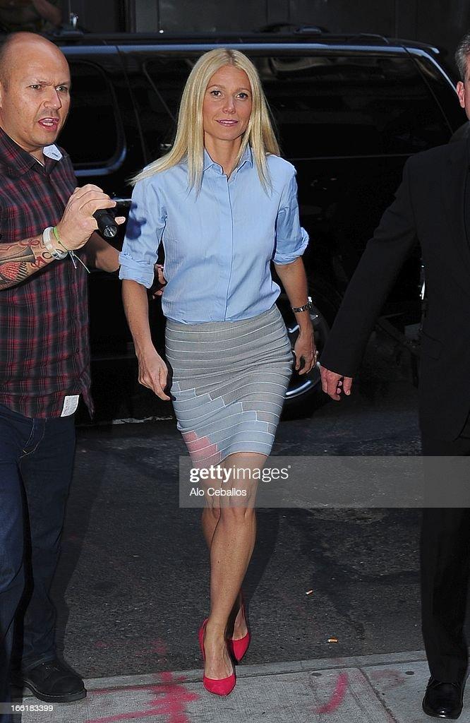 Gwyneth Paltrow sighting on April 9, 2013 in New York City.