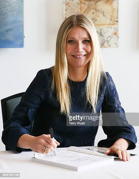 Gwyneth Paltrow signs her book 'It's all Good' during the the 2016 Antiques And Garden Show Of Nashville at Music City Center on February 12 2016 in...