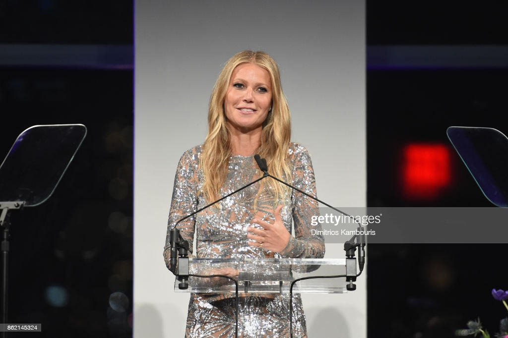 Gwyneth Paltrow speaks onstage during the 11th Annual Golden Heart Awards benefiting God's Love We Deliver on October 16, 2017 in New York City.