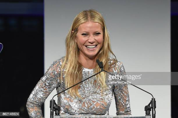 Gwyneth Paltrow speaks onstage during the 11th Annual Golden Heart Awards benefiting God's Love We Deliver on October 16 2017 in New York City