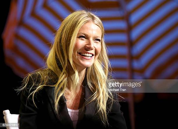 Gwyneth Paltrow speaks onstage during the 3rd Annual Airbnb Open Spotlight held at The Los Angeles Theater on November 19 2016 in Los Angeles...