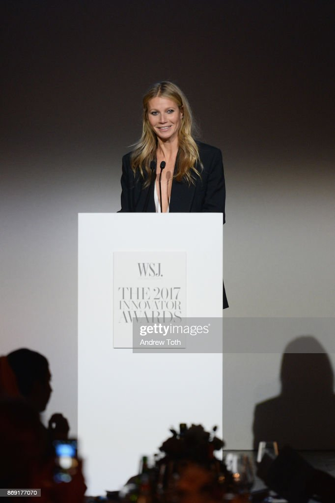 Gwyneth Paltrow speaks onstage during the WSJ. Magazine 2017 Innovator Awards at MOMA on November 1, 2017 in New York City.
