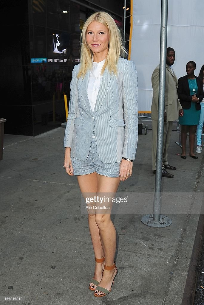 Gwyneth Paltrow visits Good Morning America on April 10 2013 in New York City