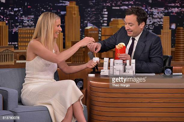 Gwyneth Paltrow Visits 'The Tonight Show Starring Jimmy Fallon' at NBC Studios on March 4 2016 in New York City
