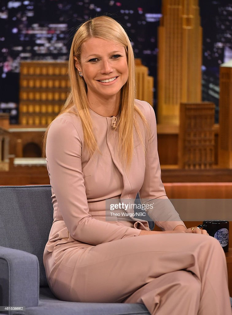 Gwyneth Paltrow Visits 'The Tonight Show Starring Jimmy Fallon' at Rockefeller Center on January 14 2015 in New York City