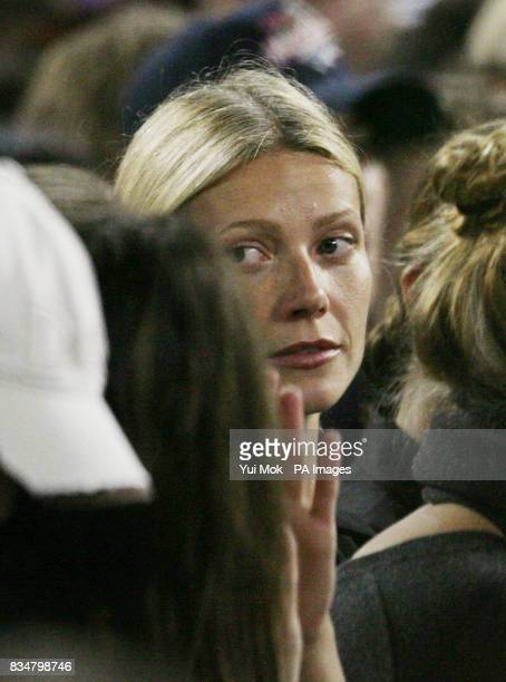 Gwyneth Paltrow watches Madonna perform her 'Sticky and Sweet' tour at Wembley Stadium in central London