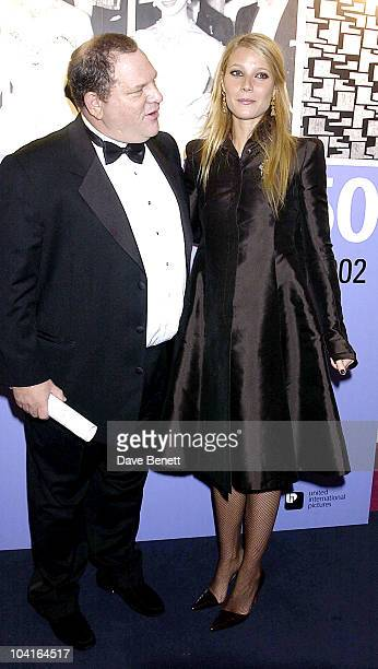 Gwyneth Paltrow With Harvey Weinstein The 50th Anniversary Gala Of The National Film Theatre At The National Film Theatre London