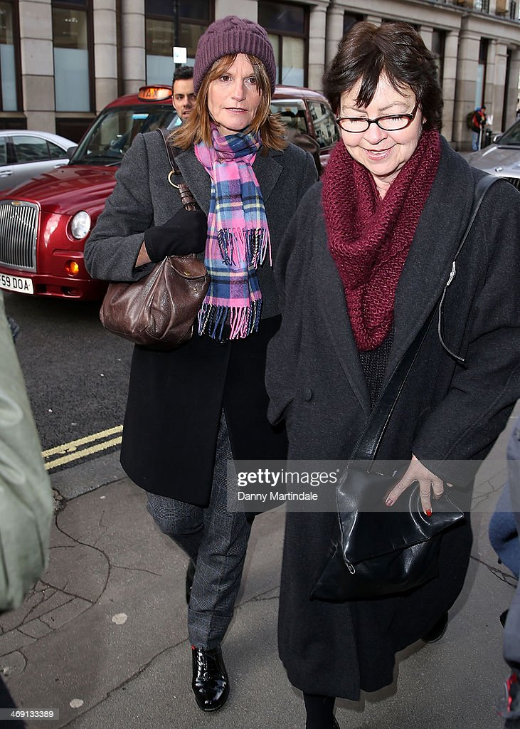 Gwyneth Strong (L) attends the funeral of actor Roger Lloyd-Pack at St Paul's Church on February 13, 2014 in London, England.