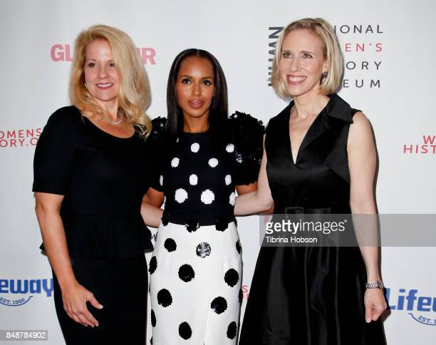Gwynne Shotwell Kerry Washington and Marne Levine attend the 6th Annual Women Making History Awards at The Beverly Hilton Hotel on September 16 2017...