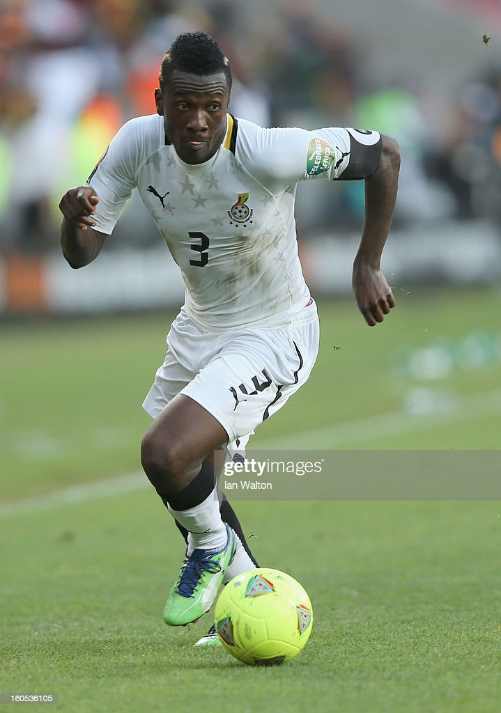 Gyan Asamoah of Gana in action during the 2013 Africa Cup of Nations Quarter-Final match between Ghana and Cape Verde at the Nelson Mandela Bay Stadium on February 2, 2013 in Port Elizabeth, South Africa.