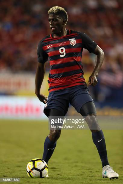 Gyasi Zardes of the United States in action during the 2017 CONCACAF Gold Cup Group B match between the United States and Martinique at Raymond James...