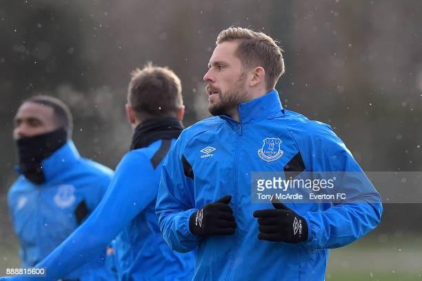 Gylfi Sigurdsson during the Everton FC training session at USM Finch Farm on December 9 2017 in Halewood England