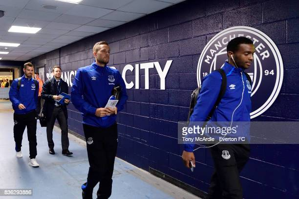 Gylfi Sigurdsson of Everton before the Premier League match between Manchester City and Everton at Etihad Stadium on August 21 2017 in Manchester...