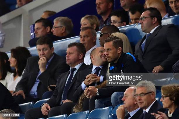 Gylfi Sigurdsson of Everton watches the match during the UEFA Europa League Qualifying PlayOffs round first leg match between Everton FC and Hajduk...