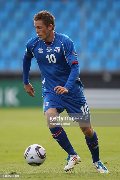 Gylfi Sigurdsson of Iceland during the UEFA European Under21 Championship Group A match between Switzerland and Iceland at the Aalborg Stadium on...