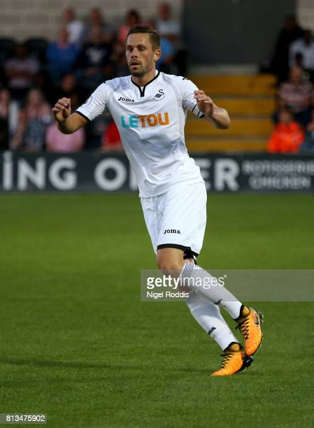 Gylfi Sigurdsson of Swansea City during the pre season friendly match between Barnet and Swansea City at The Hive on July 12 2017 in Barnet England