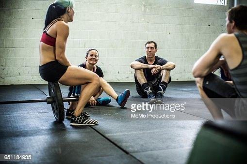 gym - class taking a break